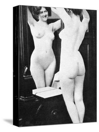 Nude And Mirror, 1902-Fritz W. Guerin-Stretched Canvas Print