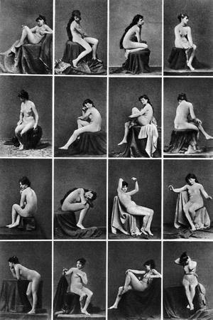 Nude Posing, C1875--Stretched Canvas Print
