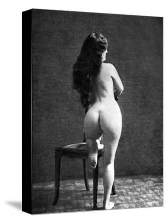 Nude Posing: Rear View--Stretched Canvas Print