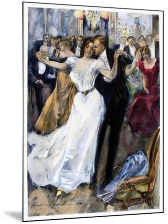 Society Ball, C1900-Hal Hurst-Mounted Giclee Print