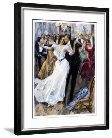 Society Ball, C1900-Hal Hurst-Framed Giclee Print