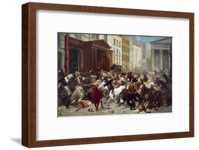 Wall Street: Bears & Bulls-William Holbrook Beard-Framed Giclee Print