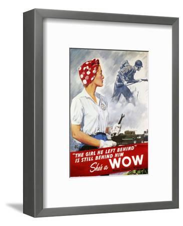 World War Ii Poster--Framed Premium Giclee Print