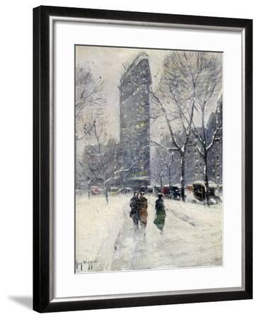 New York: Flatiron, 1919-Guy Wiggins-Framed Giclee Print