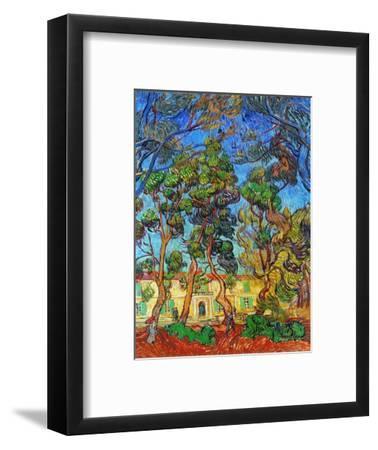 Van Gogh: Hospital, 1889-Vincent van Gogh-Framed Premium Giclee Print