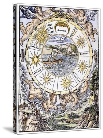 The Seven Planets, 1536-Sebastian Munster-Stretched Canvas Print