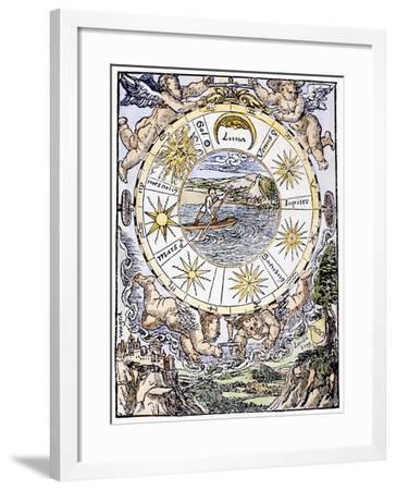 The Seven Planets, 1536-Sebastian Munster-Framed Giclee Print