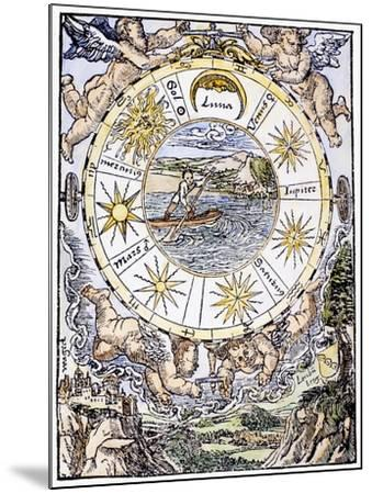 The Seven Planets, 1536-Sebastian Munster-Mounted Giclee Print