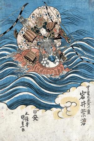 Taira Atsumori (1169-1184)-Toyokuni Utagawa-Stretched Canvas Print