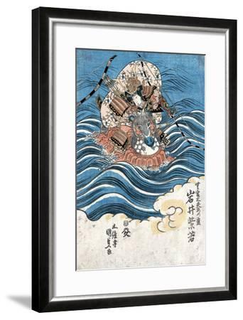 Taira Atsumori (1169-1184)-Toyokuni Utagawa-Framed Giclee Print