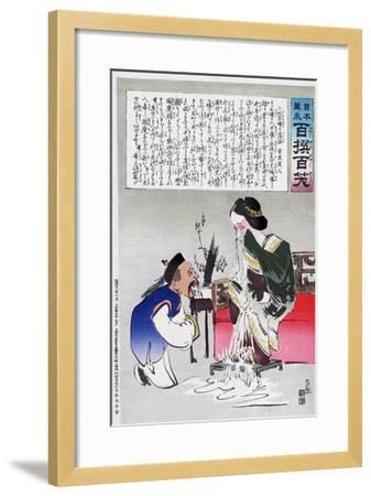 Chinese Cartoon, C1895-Kiyochika Kobayashi-Framed Giclee Print
