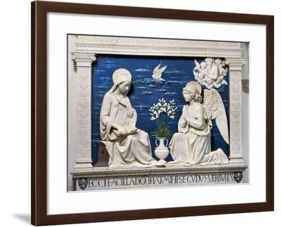 Della Robbia: Annunciation-Andrea Della Robbia-Framed Giclee Print