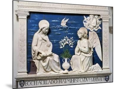 Della Robbia: Annunciation-Andrea Della Robbia-Mounted Giclee Print