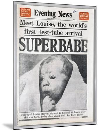 Test-Tube Baby, 1978--Mounted Giclee Print