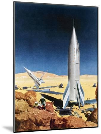 Mars Mission, 1950S-Chesley Bonestell-Mounted Giclee Print