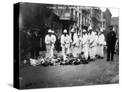 Street Sweepers, 1911--Stretched Canvas Print