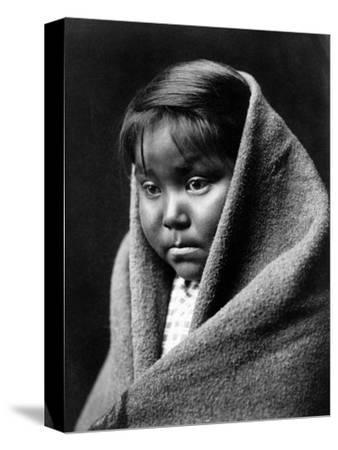 Navajo Child, C1904-Edward S^ Curtis-Stretched Canvas Print