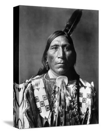 Sioux Man, C1907-Edward S^ Curtis-Stretched Canvas Print