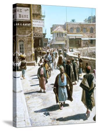 Jerusalem Street Scene--Stretched Canvas Print
