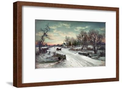Christmas Morn, C1885-W^C^ Bauer-Framed Giclee Print