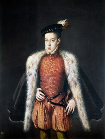 Carlos, Prince Of Asturias-Alonso Sanchez Coello-Stretched Canvas Print