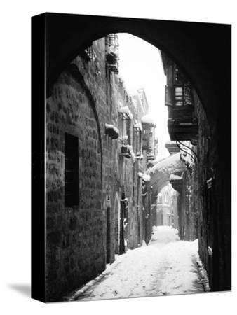 Jerusalem: Winter--Stretched Canvas Print