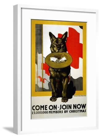 Red Cross Poster, 1917-Richard Fayerweather Babcock-Framed Giclee Print
