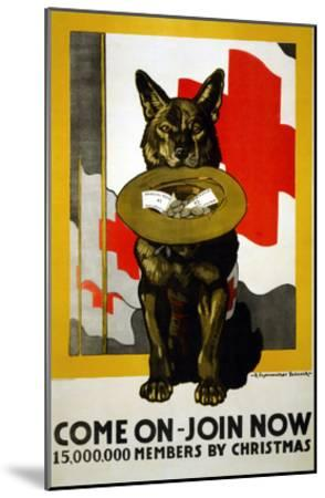Red Cross Poster, 1917-Richard Fayerweather Babcock-Mounted Giclee Print