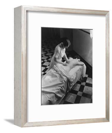 Vogue - February 1936 - Massage at The Saratoga Spa-Lusha Nelson-Framed Premium Photographic Print