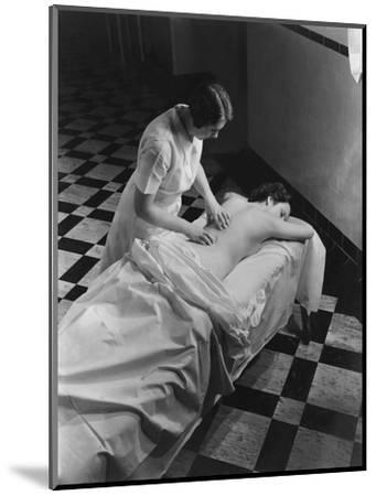 Vogue - February 1936 - Massage at The Saratoga Spa-Lusha Nelson-Mounted Premium Photographic Print