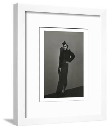 Vogue - December 1936 - Princess Nathalie Paley in Lelong Dress-Andr? Durst-Framed Premium Photographic Print