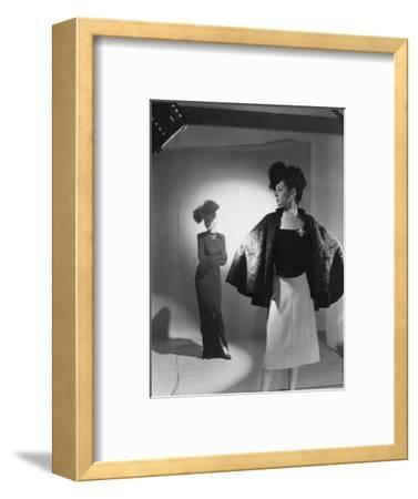 Vogue - October 1944 - Fashions from Bergdorf Goodman-Cecil Beaton-Framed Premium Photographic Print