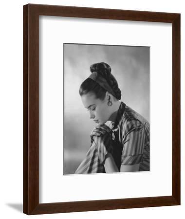 Vogue - January 1945-Frances Mclaughlin-Gill-Framed Premium Photographic Print