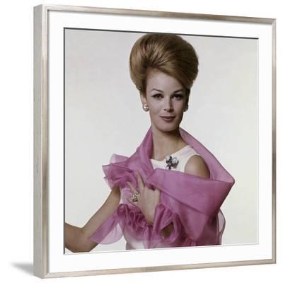 Vogue - July 1962 - Woman with Bouffant Hairdo-Bert Stern-Framed Premium Photographic Print