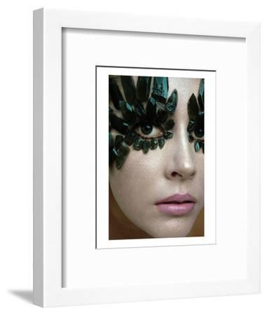 Vogue - January 1968 - Emerald-Encrusted Eyes-Gianni Penati-Framed Premium Photographic Print