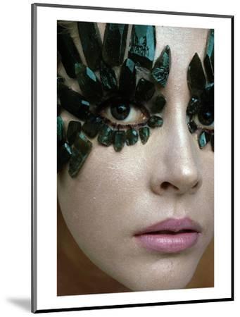 Vogue - January 1968 - Emerald-Encrusted Eyes-Gianni Penati-Mounted Premium Photographic Print