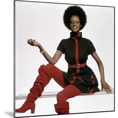 Vogue - November 1969 - Bill Blass Turtleneck Dress-Gianni Penati-Mounted Premium Photographic Print