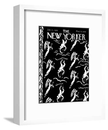 The New Yorker Cover - July 11, 1925-Bertrand Zadig-Framed Premium Giclee Print