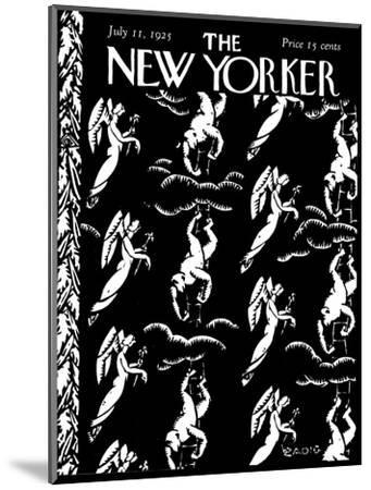 The New Yorker Cover - July 11, 1925-Bertrand Zadig-Mounted Premium Giclee Print