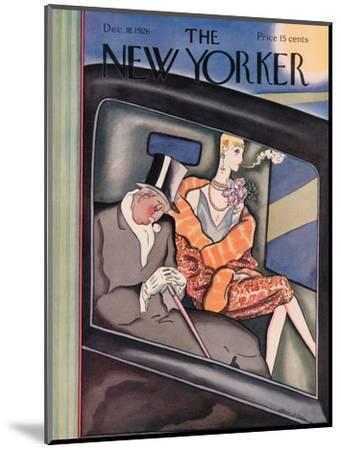 The New Yorker Cover - December 18, 1926-Ottmar Gaul-Mounted Premium Giclee Print