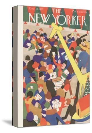 The New Yorker Cover - December 17, 1927-Theodore G. Haupt-Stretched Canvas Print