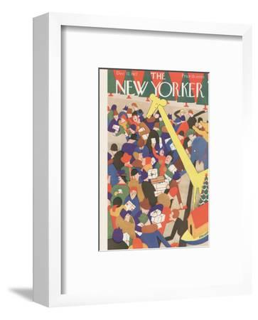 The New Yorker Cover - December 17, 1927-Theodore G. Haupt-Framed Premium Giclee Print