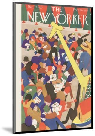 The New Yorker Cover - December 17, 1927-Theodore G. Haupt-Mounted Premium Giclee Print