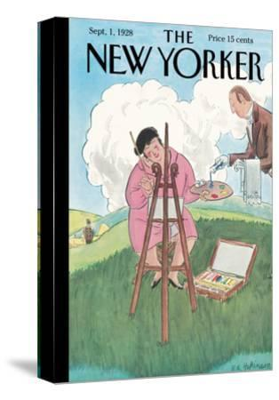 The New Yorker Cover - September 1, 1928-Helen E. Hokinson-Stretched Canvas Print