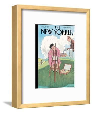 The New Yorker Cover - September 1, 1928-Helen E. Hokinson-Framed Premium Giclee Print