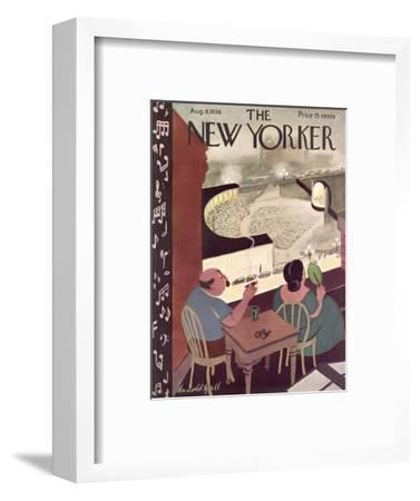 The New Yorker Cover - August 8, 1936-Arnold Hall-Framed Premium Giclee Print