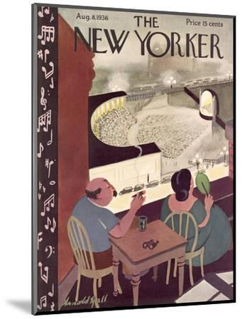 The New Yorker Cover - August 8, 1936-Arnold Hall-Mounted Premium Giclee Print