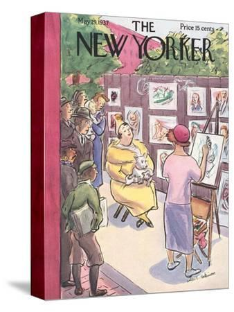 The New Yorker Cover - May 29, 1937-Helen E. Hokinson-Stretched Canvas Print