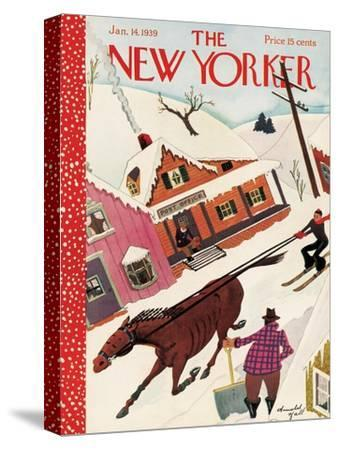 The New Yorker Cover - January 14, 1939-Arnold Hall-Stretched Canvas Print