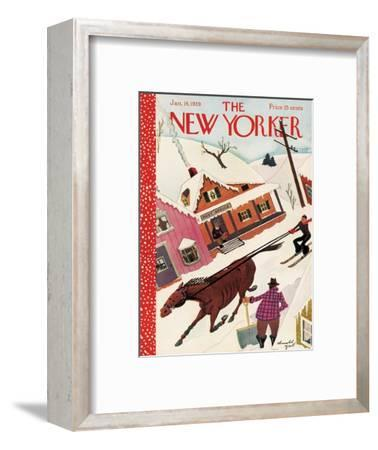 The New Yorker Cover - January 14, 1939-Arnold Hall-Framed Premium Giclee Print